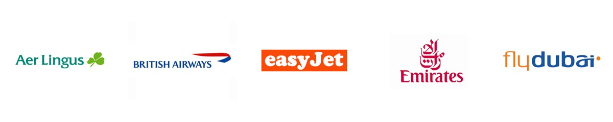 easy jet, british airways airline logos