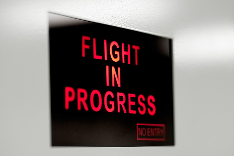 Flight In Progress Sign